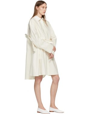 photo Off-White Bow Shirt Dress by Roberts | Wood - Image 5