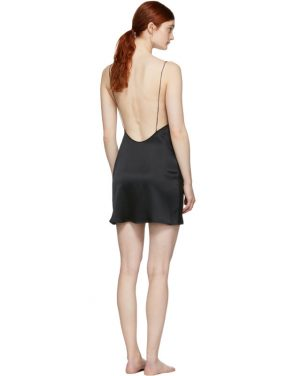 photo Black Open Back Slip Dress by Kiki de Montparnasse - Image 3