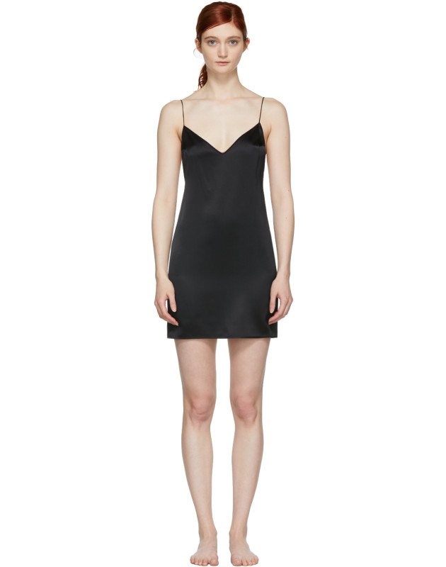 photo Black Open Back Slip Dress by Kiki de Montparnasse - Image 1