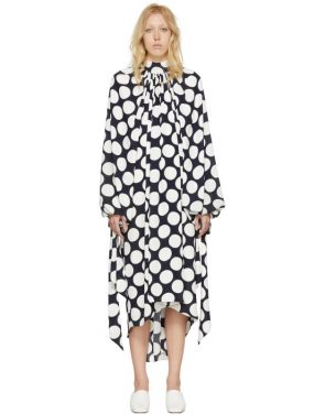 photo Navy and White Polka Dot Dress by A.W.A.K.E. - Image 1