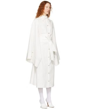 photo White Obi Belt Shirt Dress by A.W.A.K.E. - Image 2