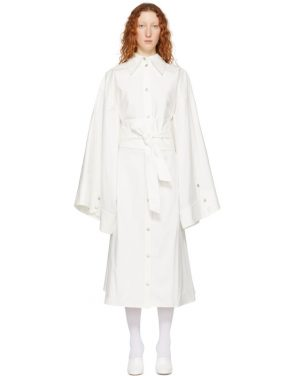 photo White Obi Belt Shirt Dress by A.W.A.K.E. - Image 1