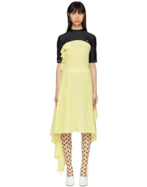 photo Black and Yellow Hybrid Dress by Marine Serre - Image 1