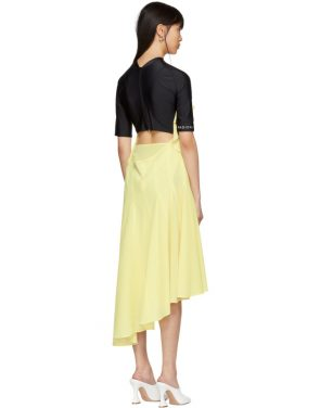 photo Black and Yellow Hybrid Dress by Marine Serre - Image 5