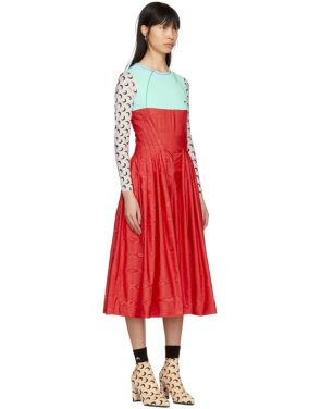 photo Red and Turquoise Cornerstones Hybrid Dress by Marine Serre - Image 2