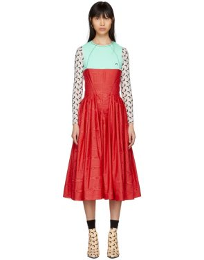 photo Red and Turquoise Cornerstones Hybrid Dress by Marine Serre - Image 1
