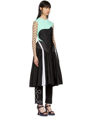 photo Blue and Black Cornerstones Hybrid Dress by Marine Serre - Image 2