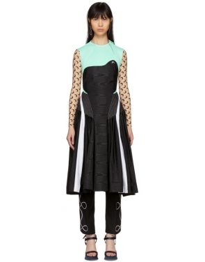 photo Blue and Black Cornerstones Hybrid Dress by Marine Serre - Image 1