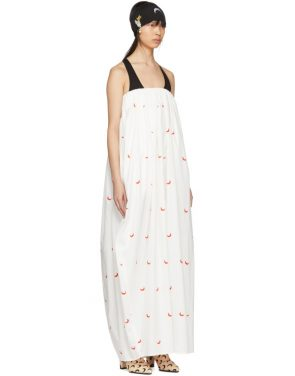 photo White and Red Cornerstones Long Dress by Marine Serre - Image 2