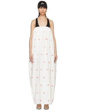 photo White and Red Cornerstones Long Dress by Marine Serre - Image 1