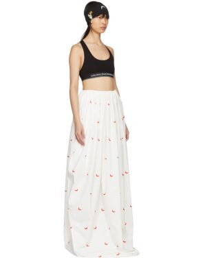 photo White and Red Cornerstones Long Dress by Marine Serre - Image 4