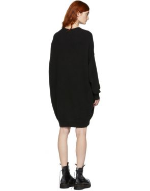photo Black Grunge Sweatshirt Dress by R13 - Image 3