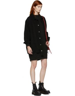 photo Black Grunge Sweatshirt Dress by R13 - Image 4