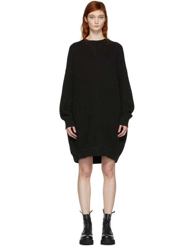 photo Black Grunge Sweatshirt Dress by R13 - Image 1