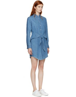 photo Indigo Denim Destroyed Sadie Dress by Rag and Bone - Image 2