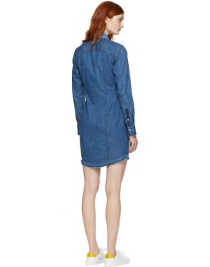 photo Indigo Denim Destroyed Sadie Dress by Rag and Bone - Image 3