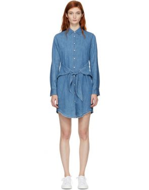 photo Indigo Denim Destroyed Sadie Dress by Rag and Bone - Image 1