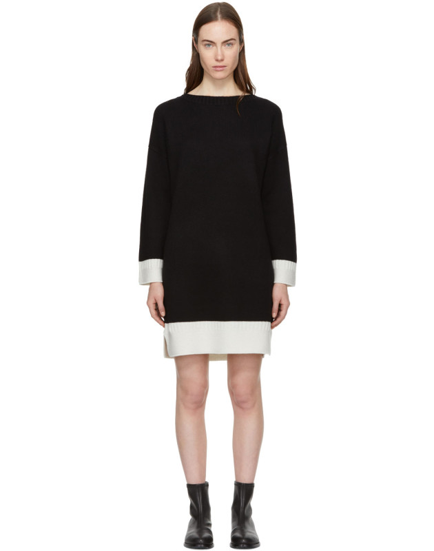 photo Black Cashmere Aubree Dress by Rag and Bone - Image 1
