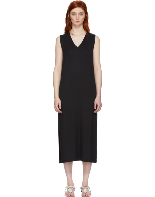 photo Black Phoenix V-Neck Dress by Rag and Bone - Image 1