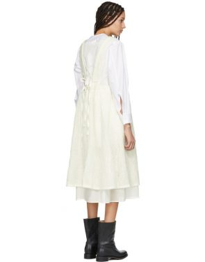 photo Off-White Layered Pinafore Dress by Renli Su - Image 3