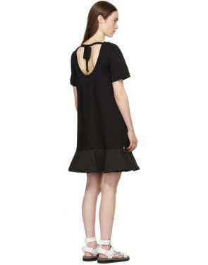 photo Black Short T-Shirt Dress by Moncler - Image 3
