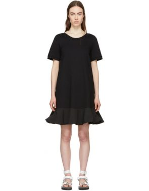 photo Black Short T-Shirt Dress by Moncler - Image 1