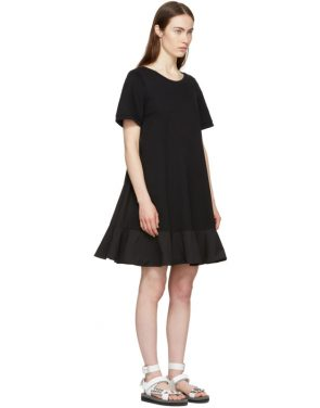 photo Black Short T-Shirt Dress by Moncler - Image 4