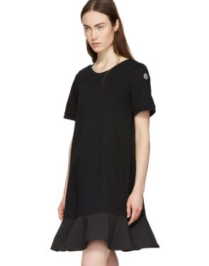 photo Black Short T-Shirt Dress by Moncler - Image 5