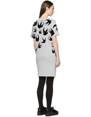 photo Grey Swallow Signature T-Shirt Dress by McQ Alexander McQueen - Image 3