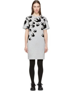 photo Grey Swallow Signature T-Shirt Dress by McQ Alexander McQueen - Image 1