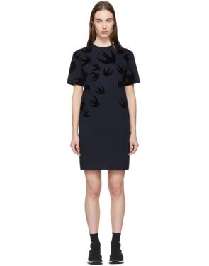 photo Navy Swallow Signature T-Shirt Dress by McQ Alexander McQueen - Image 1