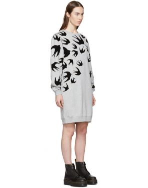 photo Grey Swallow Signature Sweatshirt Dress by McQ Alexander McQueen - Image 2