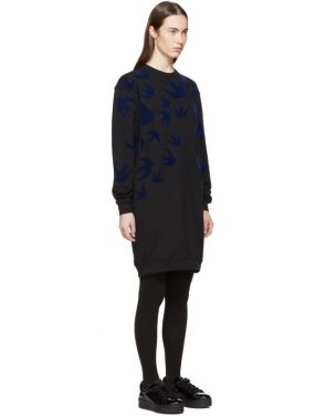 photo Black Swallow Signature Sweatshirt Dress by McQ Alexander McQueen - Image 2