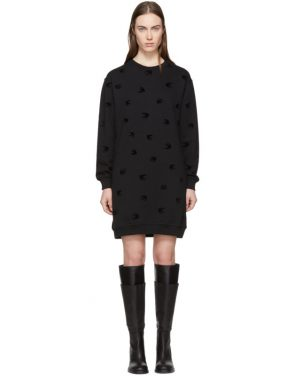 photo Black Mini Swallow Sweatshirt Dress by McQ Alexander McQueen - Image 1