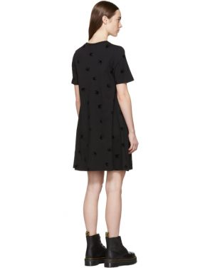 photo Black Mini Swallow Babydoll Dress by McQ Alexander McQueen - Image 3