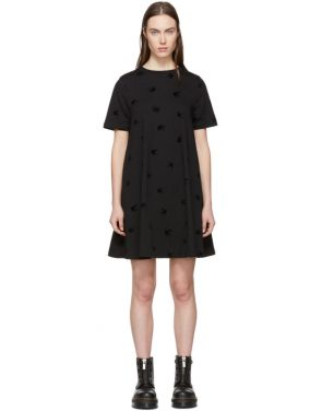 photo Black Mini Swallow Babydoll Dress by McQ Alexander McQueen - Image 1