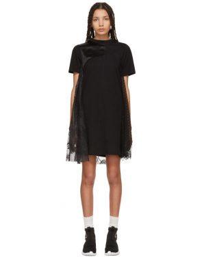 photo Black Cut-Up T-Shirt Dress by McQ Alexander McQueen - Image 1