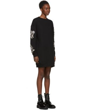 photo Black Diamante Sweatshirt Dress by McQ Alexander McQueen - Image 2