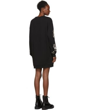 photo Black Diamante Sweatshirt Dress by McQ Alexander McQueen - Image 3