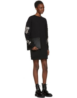 photo Black Diamante Sweatshirt Dress by McQ Alexander McQueen - Image 4