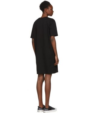 photo Black Glitch Bunny Slouch T-Shirt Dress by McQ Alexander McQueen - Image 3