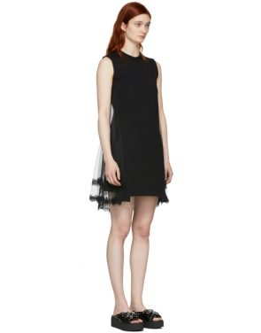 photo Black Hybrid Goth Mini Dress by McQ Alexander McQueen - Image 3
