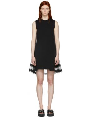 photo Black Hybrid Goth Mini Dress by McQ Alexander McQueen - Image 1