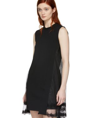 photo Black Hybrid Goth Mini Dress by McQ Alexander McQueen - Image 4