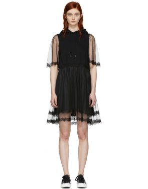 photo Black Hybrid Hoodie Dress by McQ Alexander McQueen - Image 1
