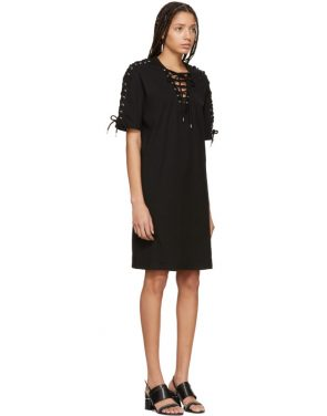 photo Black Laced T-Shirt Dress by McQ Alexander McQueen - Image 2