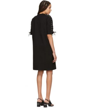 photo Black Laced T-Shirt Dress by McQ Alexander McQueen - Image 3