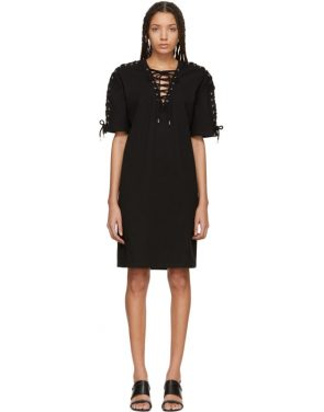 photo Black Laced T-Shirt Dress by McQ Alexander McQueen - Image 1