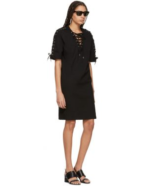 photo Black Laced T-Shirt Dress by McQ Alexander McQueen - Image 5