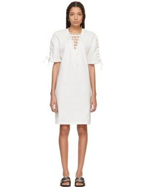 photo Ivory Laced T-Shirt Dress by McQ Alexander McQueen - Image 1